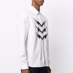 101951 NE 썬더 포인트 히든버튼 셔츠 (White)