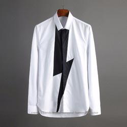 102334 미니멀 라이트닝 페인트 셔츠 (2Color)