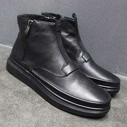 102569 미니멀 더블사이드 지퍼 스니커즈 (Black)