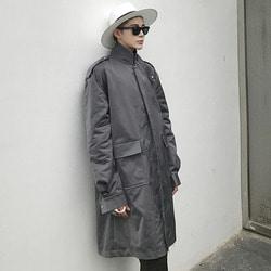 102630 찰리스 쉬머 오버핏 트렌치 코트 (Gray)