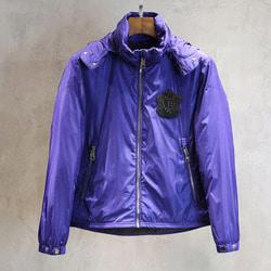 102686 체스트패치 윈드브레이커 점퍼 (Purple)