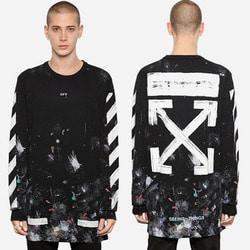 102721  일루션컬러 오버핏 맨투맨 티셔츠 (Black)
