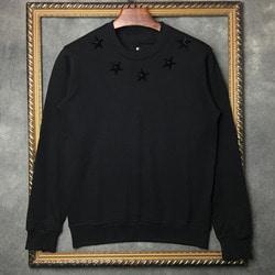 102815 GI 스타 스터드 맨투맨 티셔츠 (Black)