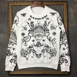 102818 GI 피어 일루션 맨투맨 티셔츠 (White)