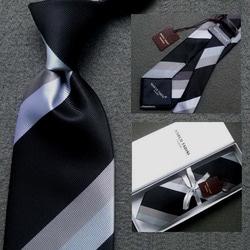 103045 마르코 트리플배색 넥타이 (Black)