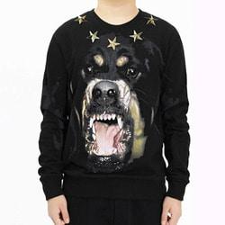 103300 GI 스타 트리밍 로트와일러 맨투맨 티셔츠 (Black)
