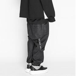 103626 언유즈얼 크런치 롤업 데님 팬츠 (Black)