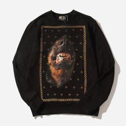 103886 GI 시그니처 체인프레임 오버핏 맨투맨 티셔츠 (Black)