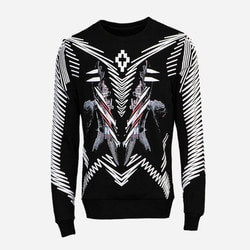 103936 MA 지오메트리 프린팅 맨투맨 티셔츠 (Black)