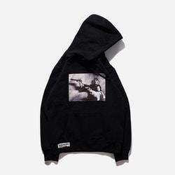 104077 레옹 포토씬 후드 티셔츠 (Black)