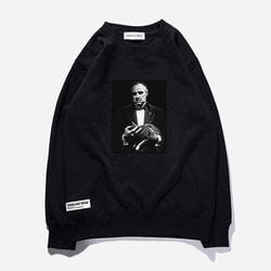 104078 캣위드맨 맨투맨 티셔츠 (3Color)
