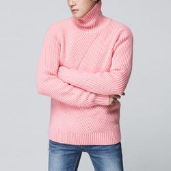 104142 사선 피셔맨 넥폴라 니트 (Pink)