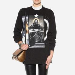 104199 GI 언유즈얼 프린팅 루즈핏 맨투맨 티셔츠 (Black)