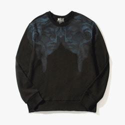 104574 MA 시메트릭 페이스 오버핏 맨투맨 티셔츠 (Black)