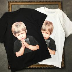 104995 AC 베이비 프린팅 하프 티셔츠 (2Color)