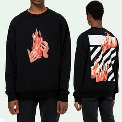 104999 OF 파이어라인 페인팅 맨투맨 티셔츠 (Black)