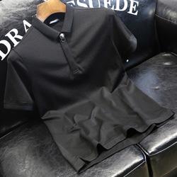 105063 사자버클 장식 하프 카라 티셔츠 (Black)