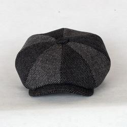 103898 투톤 쉐도우 뉴스보이 헌팅캡 (Black)