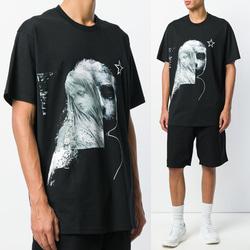 105005 GI 페이스 프린팅 하프 티셔츠 (Black)