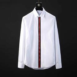 105097 GU 시그니처 밴딩 히든버튼 셔츠 (2Color)