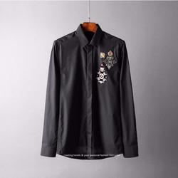 105113 로얄 브롯지 패치 셔츠 (2Color)