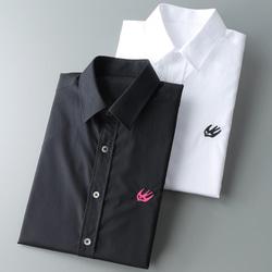 105116 AL 미니멀 버드 패치 셔츠 (2Color)