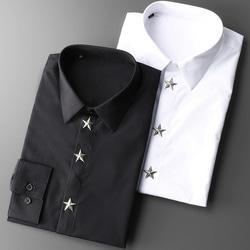 105122 스타 스터드 히든버튼 셔츠 (2Color)