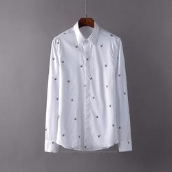 105123 스타 패턴 히든버튼 셔츠 (White)