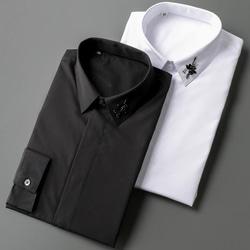 105132 DO 벌 비즈 장식 히든버튼 셔츠 (2Color)