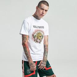 105163 GU 할리우드 레오파드 하프 티셔츠 (2Color)