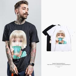 105173 AC 베이비 드링킹 티 하프 티셔츠 (2Color)