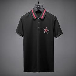 105189 별자수 패치 하프 카라 티셔츠 (2Color)