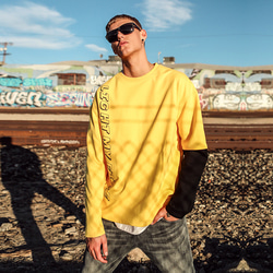 105221 에쉬메트릭 레이어드 슬리브 티셔츠 (Yellow)
