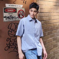 105244 소프 자이언트 포켓 하프 셔츠 (Sky Blue)