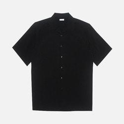 105399 데일리 썸머 오픈카라 하프 셔츠 (3Color)
