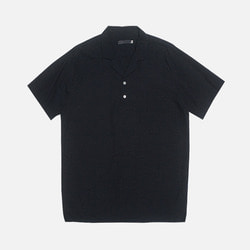 105468 파나마 오픈카라 린넨 하프 셔츠 (3Color)