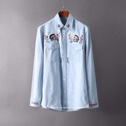 105566 고저스 크레임 엠프로이드 더블 포켓 셔츠 (Sky Blue)
