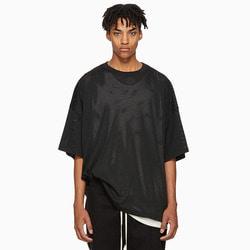 105589 FE 로이드 메쉬 패브릭 오버핏 하프 티셔츠 (2Color)