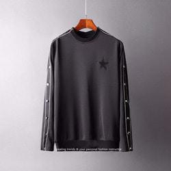 105599 로얄 사이드트리밍 스타패치 시보리 티셔츠 (Black)