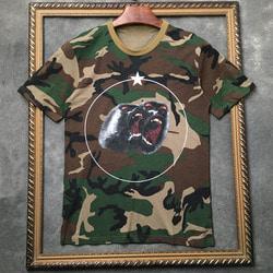 105604 GI 밀리터리 몽키 스크림 시그니처 하프 티셔츠 (Camo)