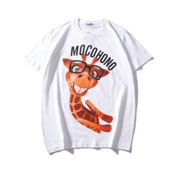 105623 MO 플레이풀 지래프 프린팅 하프 티셔츠 (2Color)