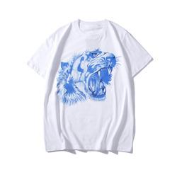 105629 GU 시그니처 블루타이거 프린팅 하프 티셔츠 (White)