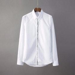 105815 엘레강스 네이처 쉐이프자수 히든버튼 셔츠 (2Color)