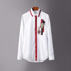 105834 스플렌디드 트랙라인 엠블럼자수 히든버튼 셔츠 (2Color)