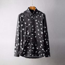 105793 GI 샤이닝 스타패턴 버튼다운카라 셔츠 (2Color)