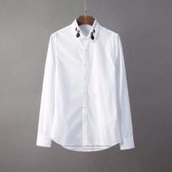105814 클래식라인 포시로즈 카라 엠브로이드 셔츠 (2Color)