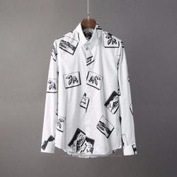 105811 유니크 플로라이드 프레임 패턴 히든버튼 셔츠 (2Color)
