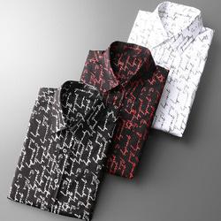 105791 스플렌디드라인 스크립트 레터링레인 셔츠 (3Color)