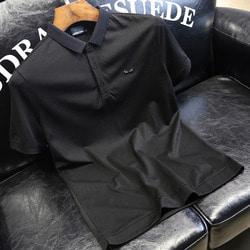 105775 FE 다크고스트 아이포인트 하프 카라 티셔츠 (Black)