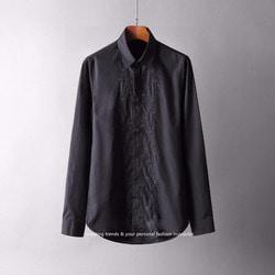 105844 GU 센터라인 벌자수 에이든 히든버튼 셔츠 (Black)